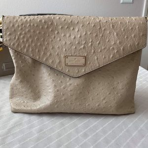 Kate spade ostrich leather purse tote
